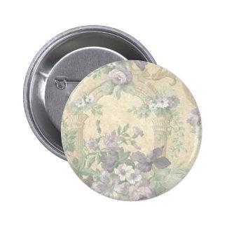 Purple Flower Garden Button