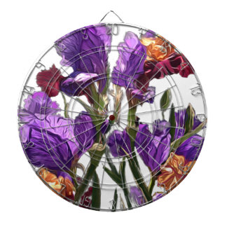 purple flower garden dartboard