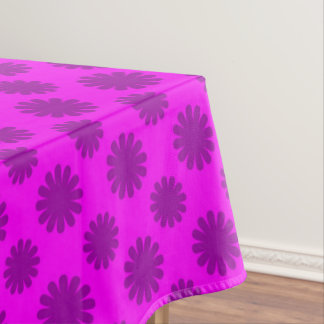 Purple Flower Geometric pattern Tablecloth