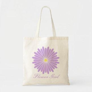 Purple Flower Girl Bag