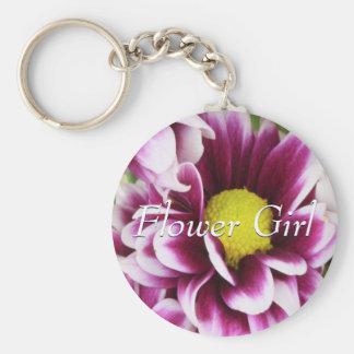 Purple Flower Girl Bouquet Keychain