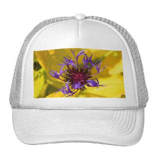 Purple Flower Mesh Hat