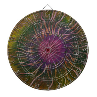 Purple Flower Head Dartboard