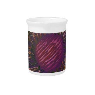 Purple Flower Head Pitcher