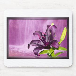 Purple Flower Image Mouse Pad