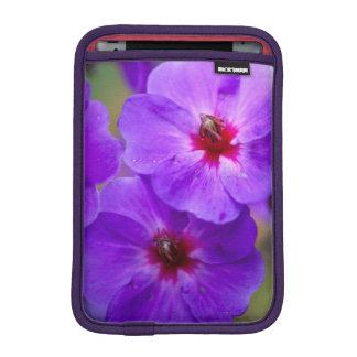 Purple flower iPad mini sleeve