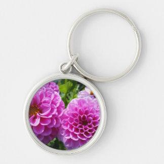 Purple Flower Key Chain
