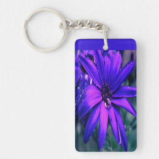 Purple Flower Acrylic Keychains