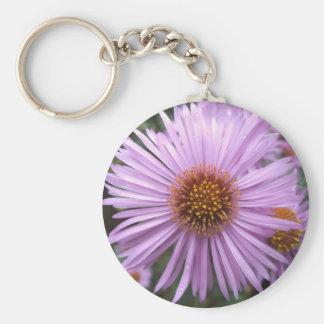 Purple Flower Keychain