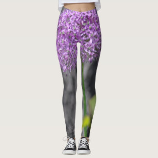 Purple flower leggings