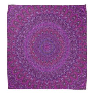 Purple flower mandala bandana