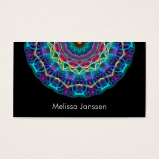 Purple Flower -Mandala- Business Card