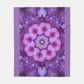 Purple Flower Mandala by SeaAngeL12 Fleece Blanket