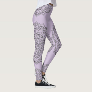 Purple Flower Mandala Leggings