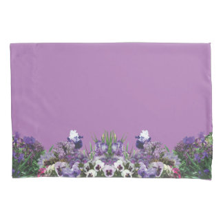 purple flower medley pillow cases