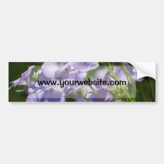 Purple Flower, Nature Photography, Floral Car Bumper Sticker
