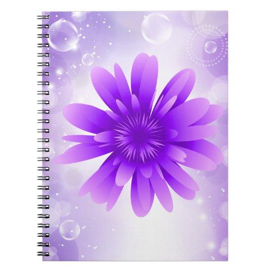 Purple Flower Notebook