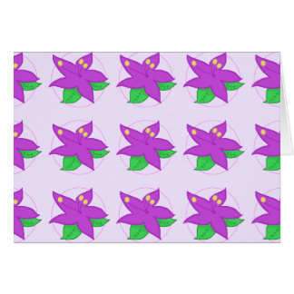 Purple Flower Notecard