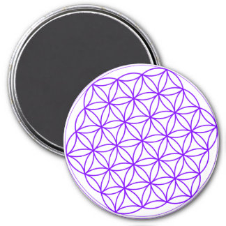 Purple Flower Of Life Magnet