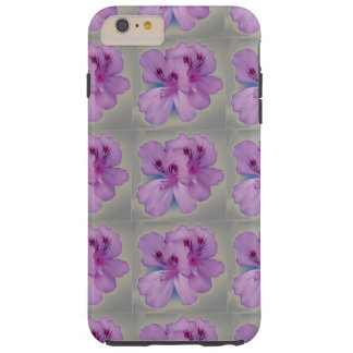 Purple Flower On Silver Gray Cell Phone Case