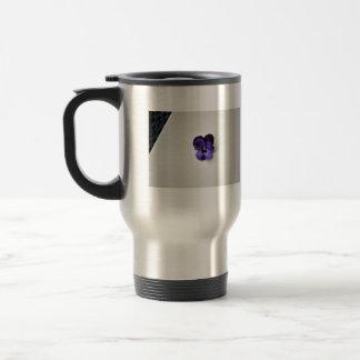 Purple flower on white background mugs