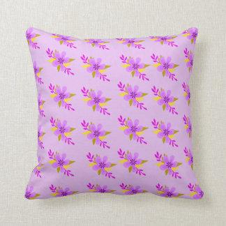 Purple Flower Pattern Cushion