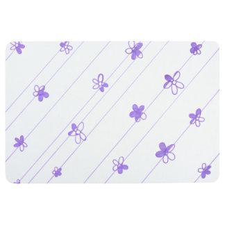 Purple Flower Pattern floor mat