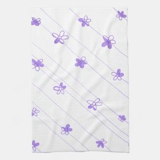 Purple Flower Pattern kitchen towel