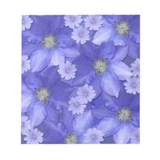 Purple Flower Pattern Notepad