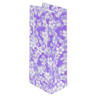 Purple Flower Pattern Wine Gift Bag