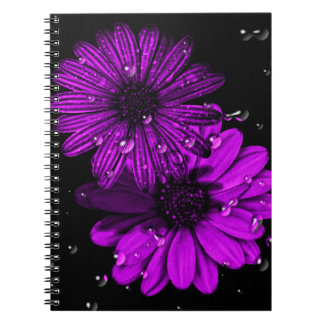 Purple flower photo notebook