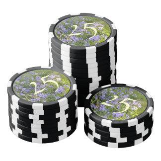 Purple Flower plant Poker Chips