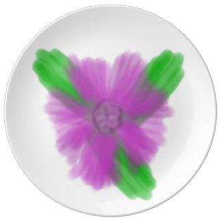 Purple Flower Porcelain Plate