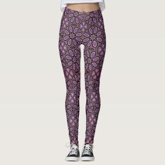 Purple Flower Power Leggings