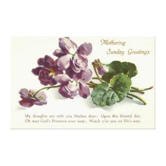 Purple Flower Prayer Sunday Mother's Day Canvas Print