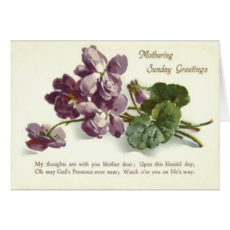 Purple Flower Prayer Sunday Mother's Day Greeting Card