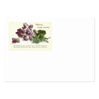Purple Flower Prayer Sunday Mother's Day Pack Of Chubby Business Cards