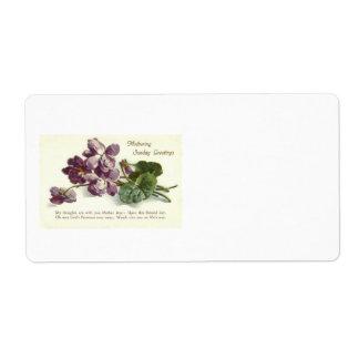 Purple Flower Prayer Sunday Mother's Day Shipping Label