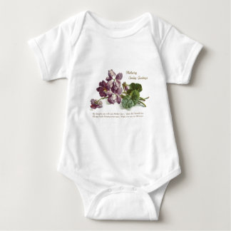 Purple Flower Prayer Sunday Mother's Day Tee Shirt