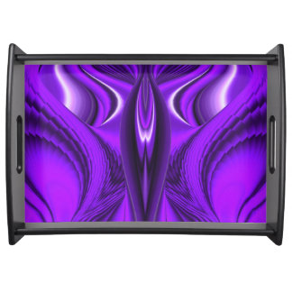 Purple Flower Rainbow Dreams - Angel Wings Serving Tray