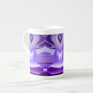 Purple Flower Rainbow Dreams Tea Cup