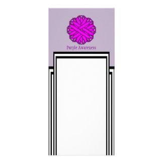 Purple Flower Ribbon Personalised Rack Card