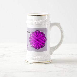 Purple Flower Ribbon Template Stein Beer Steins