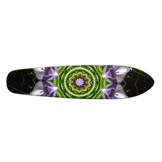 Purple Flower Skate Board Deck