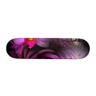 Purple Flower Skate Deck