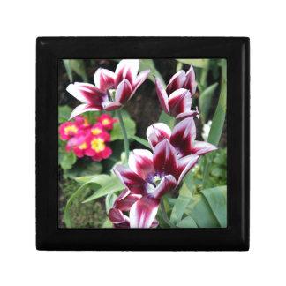 Purple Flower Small Square Gift Box
