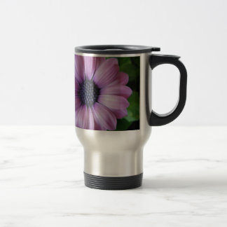 Purple Flower Stainless Steel Travel Mug