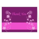 Purple Flower Thank You Card2 Card
