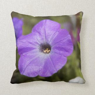 Purple Flower  Throw Pillow Cushion