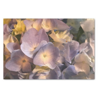 Purple flower tissue paper